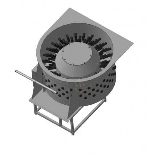 Машина для чистки куриных лап МТМ-600Л из нержавеющей стали