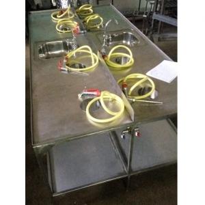 Стол для потрошения и мойки на 4 рабочих места (двойной)