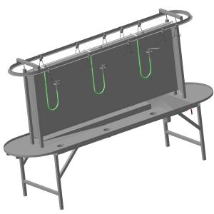 Стол-стойка с ручным конвейером