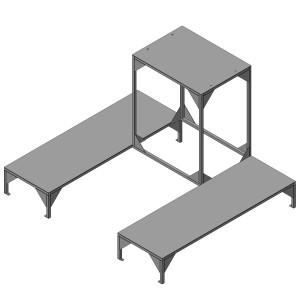 Стол для установки пилы из нержавеющей стали от производителя МТМ