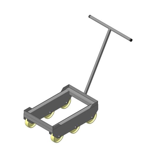 Тележка для перевозки ящиков с ручкой из нержавеющей стали от производителя МТМ