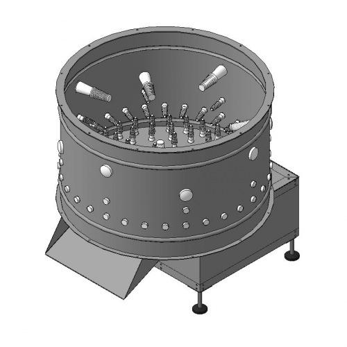 Перосъемная машина МТМ-450п из нержавеющей стали от российского производителя купить